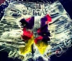 Ripped tie dye shorts #cute