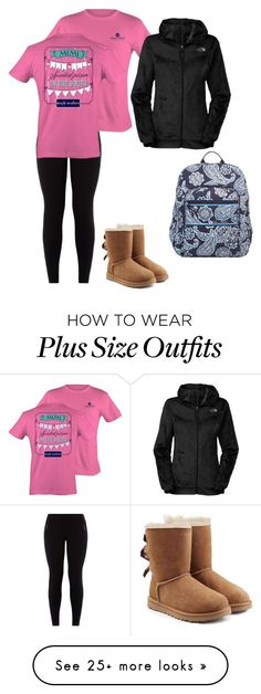 """Untitled #81"" by southern-prep-gals on Polyvore featuring UGG Australia, The North Face and Vera Bradley"
