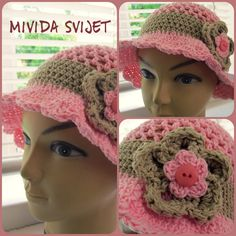 crocheted hat for girls, made of 100% cotton