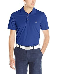 bf7c8d9c IZOD Men's Basic Short Sleeve Solid Grid Golf Polo, Cobalt Blue, XX-Large