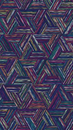 Triangle Colored Lines Digital Art Pattern iPhone 6 Plus HD Wallpaper