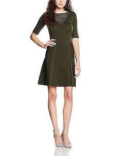 8 (Manufacturer Size: S), Green - Vert (Kaki), Morgan Women's Retch Dress NEW