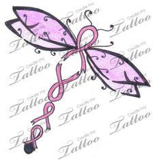 Marketplace Tattoo Breast Cancer Dragonfly #12178   CreateMyTattoo.com