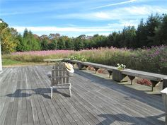 Nothing but peace and quiet on this deck on Martha's Vineyard