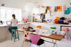 Rachel Castle's studio space (via apartment therapy)