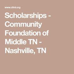 Scholarships - Community Foundation of Middle TN - Nashville, TN
