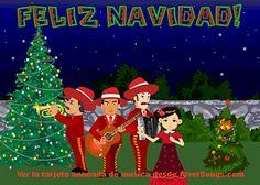 Mariachi de Navidad, http://www.riversongs.com/postales/tarjetas-de-navidad.html  Cancion de feliz navidad, felicitaciones de navidad animadas con música desde RiverSongs.com