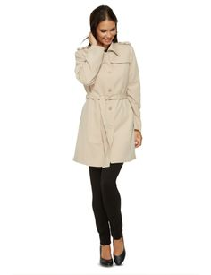 Fully lined, this classic trench coat is made from a light material. The coat is not water resistant.