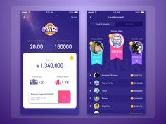 Kwiz designed by Loko. Connect with them on Dribbble; the global community for designers and creative professionals. Mobile App Design, Android App Design, Mobile App Ui, Web Design, Game Ui Design, Norman, Sports App, Interface Design, Wireframe Design