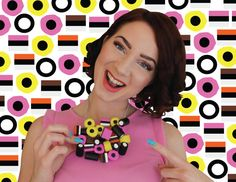 Engelsedrop Drop Liquorice Allsorts Candy Necklace Food Color Sugar Pink Black Yellow Coconut Fun Necklace Design Jewelry Accessories