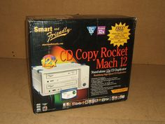 Smart & Friendly CD Copy Rocket Duplicator Stand Alone 12X Mach 12. Plastic. Metal. Color: Gray. Playback 32X. CD Copy Rocket Mach 12 incorporates award winning Smart and Friendly CD Rocket recording Technology providing 12x copy speeds, the fastest available. CD Copy Rocket Mach 12 can copy a complete 650MB disc in as few as 6 minutes, which is three times as fast as most duplicators on the market today. Fast enough to copy quickly while you wait.    Condition: New