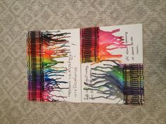 Crayon on pinterest melted crayons melted crayon art for Melted crayon art with quotes