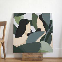 Monge Quentin — Women 3 - acrylic on canvas