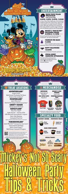 The 2016 Mickey's Not So Scary Halloween Parties at Walt Disney World will occur September 2, 8, 11, 13, 16, 18, 20, 23, 25, 29, 30 and October 2, 4, 6, 7,