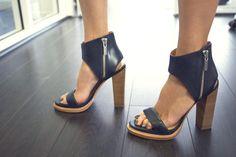 sandales noires à talon 2015