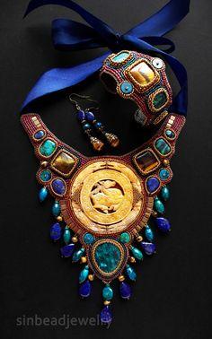 """Conjuntos de joyas hechas a mano. """"caballo del viento"""" (Morin hy)."""
