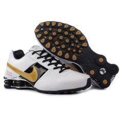 Nike Shox OZ Large Hook Black Gold White Men Shoes $79.59
