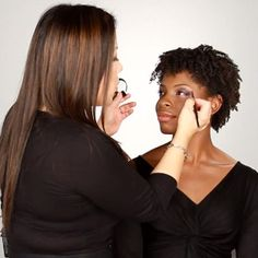 I really like the purple smokey eye. I have to this look. How to apply eyeshadow for black women