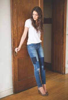 Blue Denim, Blue Jeans, Soho Style, Plus Size Boutique, Denim Fashion, Curvy, Skinny Jeans, My Style, Style 2014