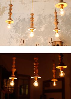 Original Wood Turning Lamp Natural【S-B】     inspiration,ランプ・照明   Orne de Feuilles