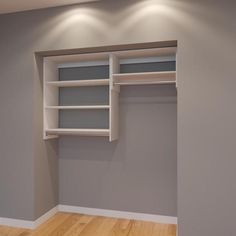 Modular Closets 5 Ft Closet Organizer System 66 Inch Style E