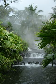 Arenal Hot Springs Costa-Rica. Costa Rica is a country in Central America, bordered by Nicaragua to the north, Panama to the southeast, the Pacific Ocean to the west, and the Caribbean Sea to the east.