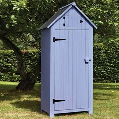 brundle gardener tool shed sentry box blue purple birstall