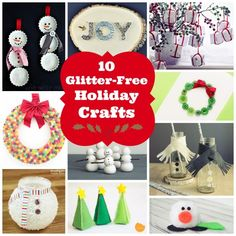 10 Glitter-free holiday crafts - Savvy Sassy Moms by @Angela Amman (I hate glitter, so these are perfect!)