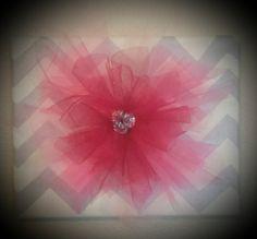 DIY Tulle Flower Girly Wall Art