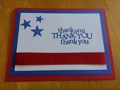 Thank you card to a Veteran!  Patriotic
