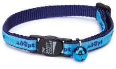 Precious Paw Prints Boutique - Blue Adopt Cat Collar, Blue Adopt Cat Collar Our Blue Adopt Safety Cat Collars are a fun way to promote a worthwhile cause of pet adoption. Show your support with this Adopt Cat Collar. Each collar has a matching jingle bell. Donate them to your local shelter or put them on your cat to show support for the cause. (http://www.preciouspawprints.com/blue-adopt-cat-collar/)