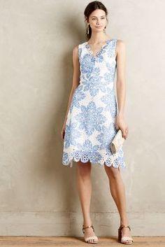 Eva Franco Starflower Scalloped Dress