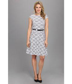 Anne Klein Ribbon Stripe Swing Dress