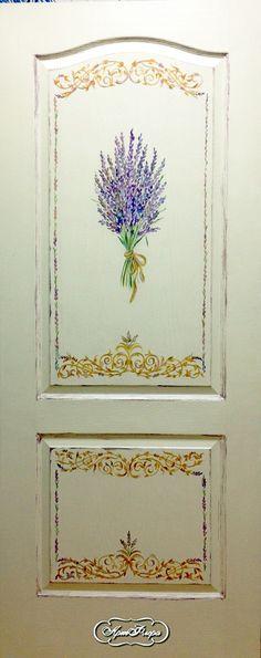 """Дверь """"Букет лаванды"""", 15000 рублей"""