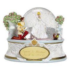 Disney Cinderella Personalized Snowglobe (white)