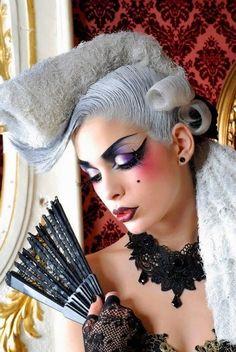 Amazing cirque make up Makeup Art, Beauty Makeup, Hair Makeup, Hair Beauty, Glamour Makeup, Makeup Geek, Eye Makeup, Fantasy Make Up, Fantasy Hair