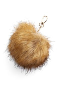NILA ANTHONY Nila Anthony Faux Fur Pompom Clip available at #Nordstrom