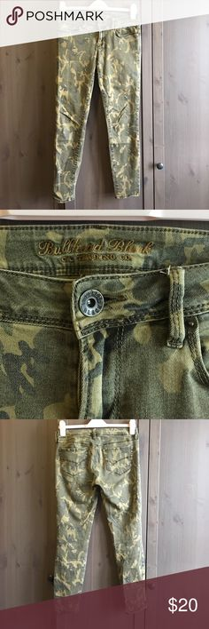 Camo Low Rise Skinny Ankle Denim Low rise camo denim, hits at ankle Bullhead Jeans Ankle & Cropped