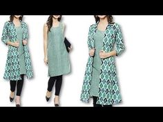 Jacket Style Kurti, Hand Sewing Projects, Long Jackets, Frocks, Kimono Top, Gowns, Blouse, Coat, Baby Dresses