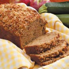 Apple Zucchini Loaf- i replaced the coconut with chopped pecans in the crumb topping. DELISH! Double this recipe for sure!