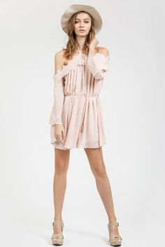 Eternal Happiness Blush Lace Romper