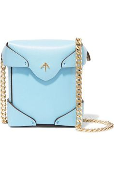 Manu Atelier - Pristine Micro Leather Shoulder Bag - Blue