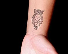 small owl tattoos - Google Search