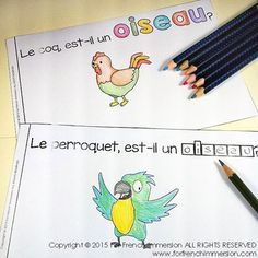 For French Immersion Emergent Reader - Un OISEAU? - en français Read In French, Learn French, French Stuff, Teaching Tools, Teaching Ideas, Primary Activities, French Classroom, Ways Of Learning, French Immersion