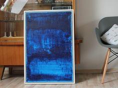 """Acrylmalerei - Abstrakte Kunst Titel """"BLUE MOON ll"""" 60cm x 90cm - ein Designerstück von simeART bei DaWanda"""