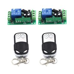 DC12V 10A Relay 1CH Wireless RF Remote Control Switch 2 Transmitter+ 2 Receiver Unit 4247