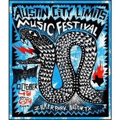 2013 Commemorative or Numbered Poster - ACL Music Festival Store | Oct. 4-6 & 11-13, 2013 | Zilker Park, Austin, Texas...Weekend 1 poster