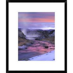 Global Gallery Hot Creek at Sunset, Mammoth Lakes Region, Sierra Nevada, California by Tim Fitzharris Framed Photographic Print Size: