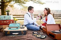 MICHELLE JORDAN Photography » Vintage Engagement Portrait Session