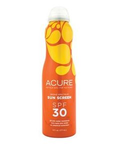 Continuous broad spectrum mineral sunscreen. Hypoallergenic for sensitive skin. Water-proof tested to eighty minutes. Lightweight with argan oil to moisturize.